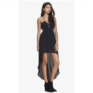 Express High Low Cut Out Little Black Dress
